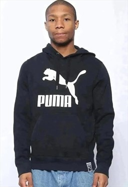 Vintage Puma Logo Hoodie Black