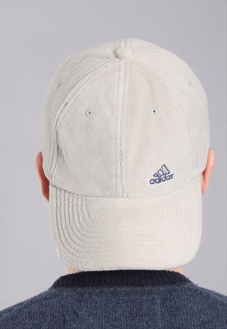 VINTAGE ADIDAS FLEECE BASEBALL CAP HAT
