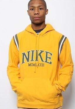 Vintage Nike Spellout Hoodie Yellow