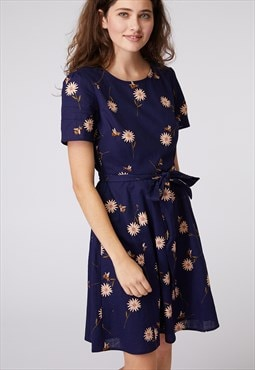 Princess Highway Navy Daisy Print Dress