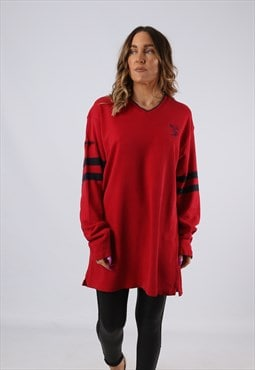 Vintage Ralph Lauren CHAPS Top Jumper Red 18 - 20 XXL (JA3A)