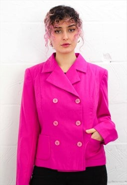 Vintage 80's Hot Pink Cropped Blazer