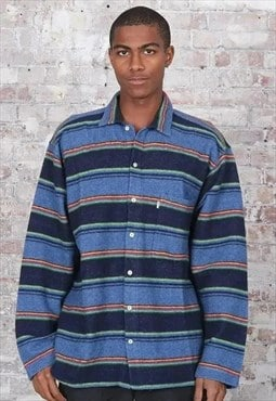 Vintage Levis Striped Shirt Blue