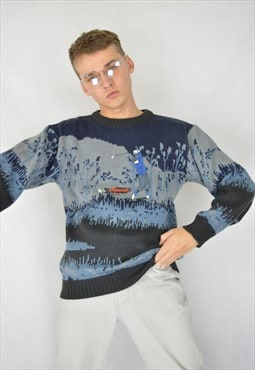 Vintage multicolor classic graphic 80's sweatshirt