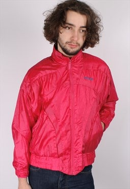 Vintage Adidas 80's Shell Jacket In Pink