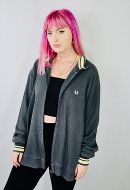 Vintage Fred Perry Oversized Zip Sweatshirt