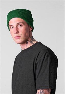 Essential Cuffed Beanie Hat - Forrest Green