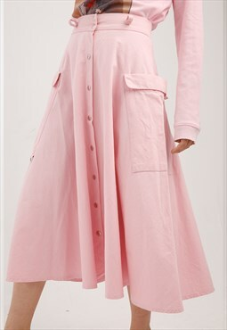 Mary Jane Pastel Pink Midi Skirt