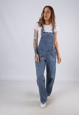 Vintage Denim Dungarees Wide Straight Leg UK 12 Medium (C1E)