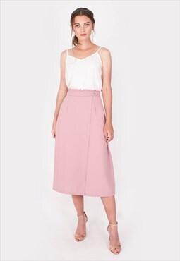 Verdure Midi Skirt (Pink)