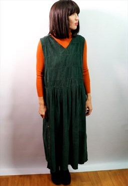 Vintage 90's green corduroy dress