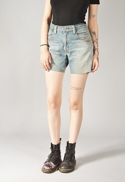 Vintage Levi's Painters Denim Shorts Mid Blue