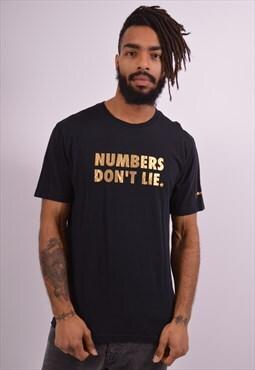Nike Mens Vintage T-Shirt Top Medium Black 90s
