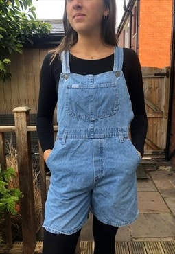 Lee vintage denim dungaree shorts 10