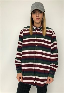 Vintage 90s Tommy Hilfiger Long Sleeve Striped Shirt