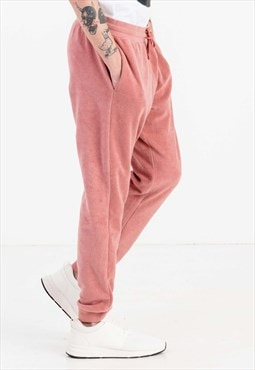 Slim Fit Fleece Joggers in Pink