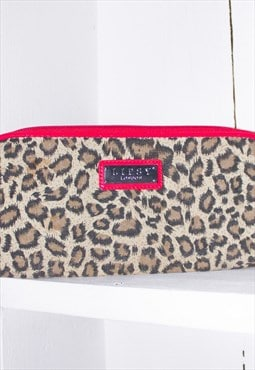 Lipsy purse y2k 00s animal print wallet hot pink unisex