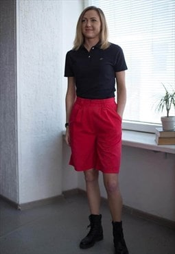 Vintage 80's Red High Waist Shorts