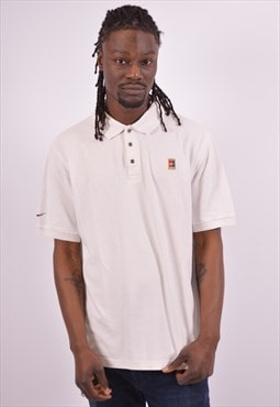 Nike Mens Vintage Polo Shirt Large White 90s