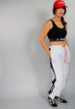 Unisex White Trousers pants