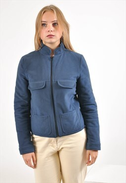 Vintage lined fleece jacket in blue