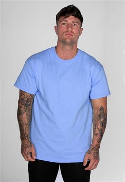 Staple Blank Plain T-Shirt - Cornflower Blue