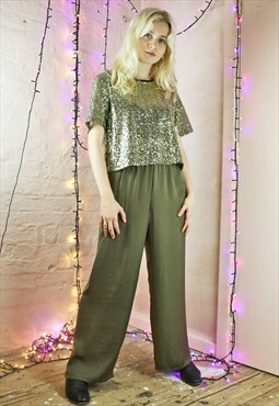Palazzo Pants in Green