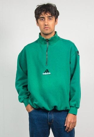 ADIDAS EQUIPMENT SWEATSHIRT QUARTER ZIP SWEATER