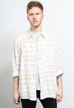 Vintage Aztec Patterned Shirt