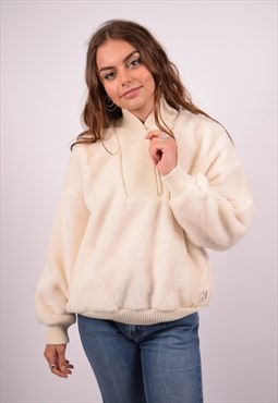 Vintage Helly Hansen Fleece Jumper Oversized White