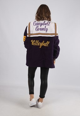 Wool Jacket Oversized Varsity Volleyball UK 16 - 18 (GV4X)