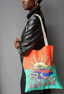 Voyage, Rave, Festival canvas tote bag