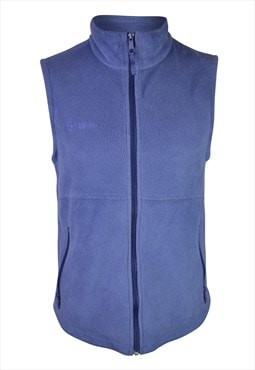 90s Blue Fleece Gilet