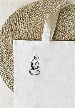 Hand embroidered Eco shopping bag