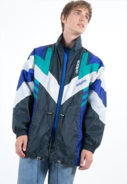 Vintage 90s Adidas Raincoat Jacket / S4006
