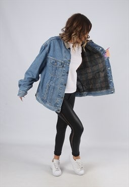 Denim Jacket LEE Lined Oversized Winter UK 18 - 20 (CK2N)