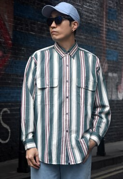 Vintage Striped Oversized Shirt