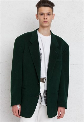 VINTAGE GREEN HUGO BOSS BLAZER JACKET