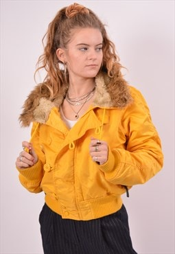 Vintage Alpha Industries Parka Jacket Loose Fit Yellow