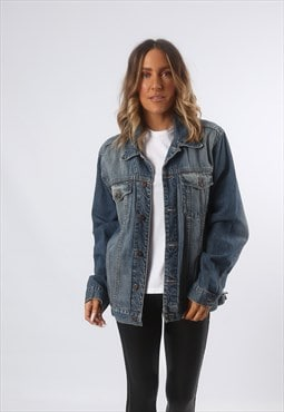 Denim Jacket Oversized Fitted ANGELO Vintage UK 16 (GF4J)