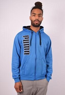 Vintage Puma Hoodie Sweater Blue