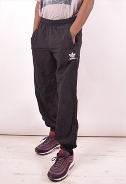 Adidas Mens Vintage Tracksuit Trousers Medium Black 90s