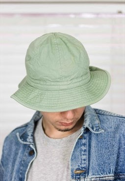 Vintage Green Bucket Hat 90s S  3.3