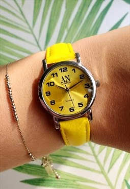 Classic Super Slim Yellow Watch