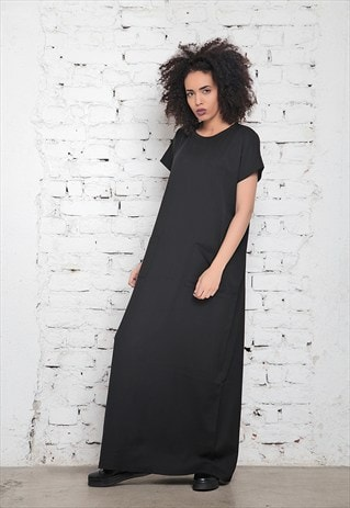 MAXI DRESS /BLACK OVERSIZE DRESS/KAFTAN DRESS/PLUS SIZE