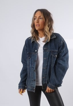 Denim Jacket Oversized Fitted McORVIS Vintage UK 16 18 (BG2H
