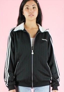 Vintage 90s Adidas Jacket Track Y2K Black Suit Zip-up