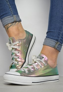Vintage 90s Converse Colourful Iridescent Ox Shoes Trainers