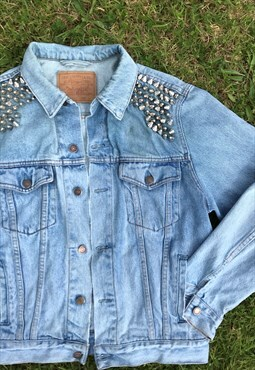 Vintage Levi Studded Stonewash Denim Jacket