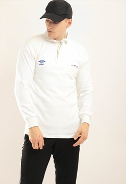 Vintage Umbro long sleeve top white